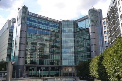 Front view of the Visa London Innovation Center headquarters.